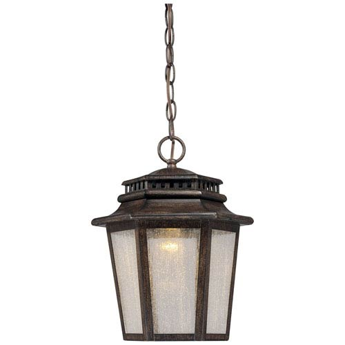 Wickford Bay One-Light LED Outdoor Chain Hung in Iron Oxide