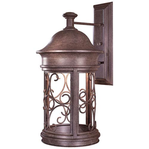Sage Ridge Vintage Rust One-Light Dark Sky Outdoor Wall Light