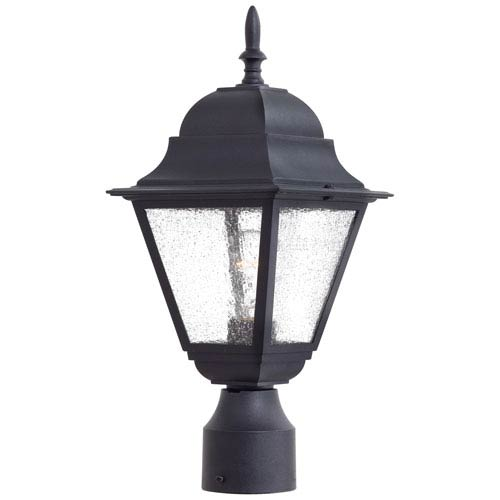 Minka-Lavery Bay Hill Black One-Light Outdoor Post Mount