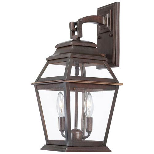 Minka-Lavery Crossroads Point Architectural Bronze Two-Light Outdoor Post Mount