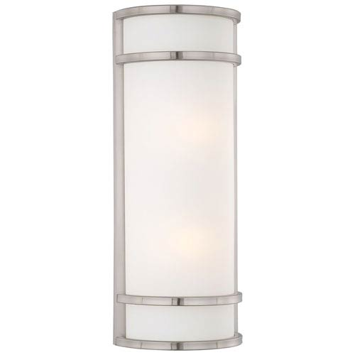 Bay View Brushed Stainless Steel Two-Light Pocket Lantern