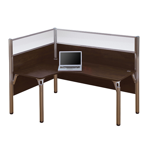 Bestar Pro Biz Chocolate 55 5 Inch High Single Left L Desk Workstation