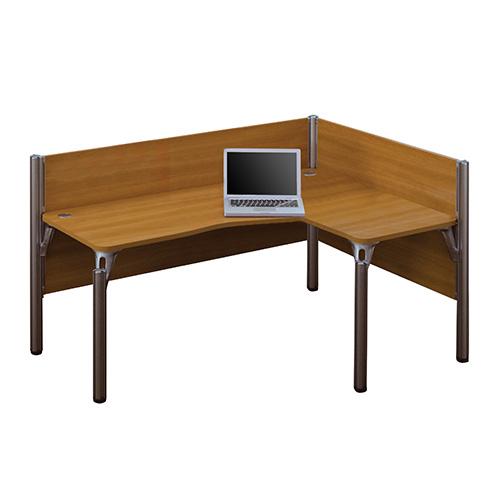 Bestar Pro-Biz Cappuccino Cherry 43-Inch High Single Right L-Desk Workstation