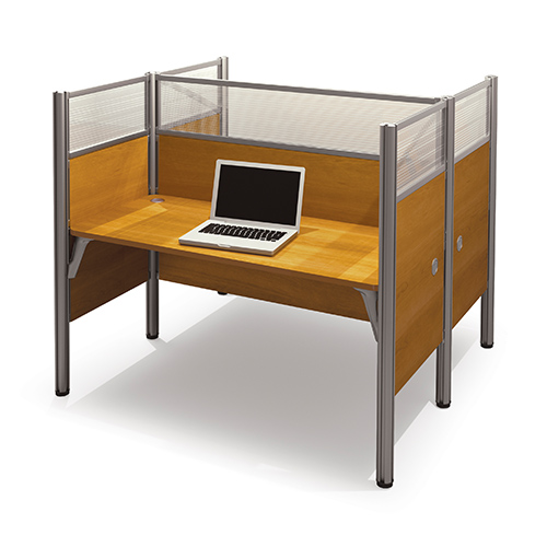 Pro-Biz Cappuccino Cherry 55.5-Inch High Double Face to Face Workstation