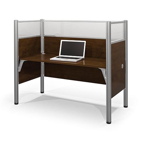Bestar Pro-Biz Chocolate 55.5-Inch High Simple Workstation