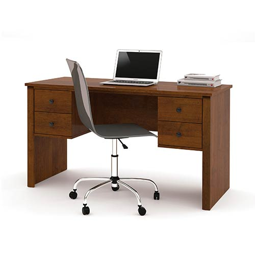 Bestar Somerville Tuscany Brown Executive Desk with Two Pedestal