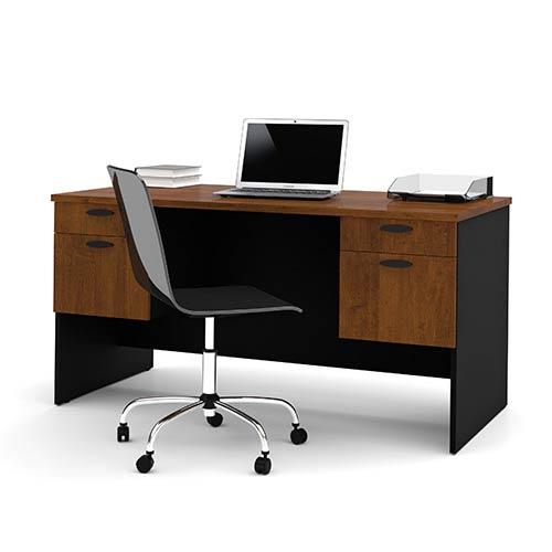 Hampton Tuscany Brown and Black Executive Desk