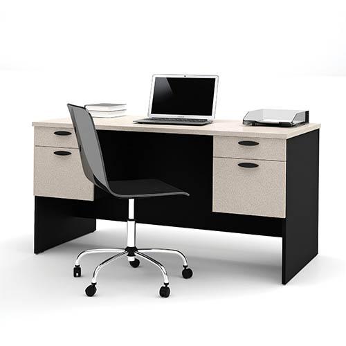 Hampton Sand Granite and Charcoal Executive Desk