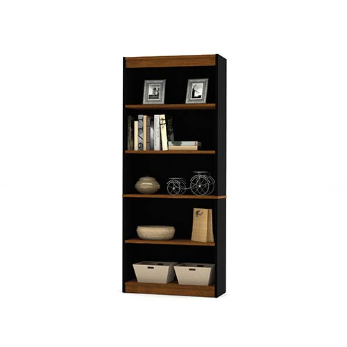 Innova Tuscany Brown and Black Bookcase