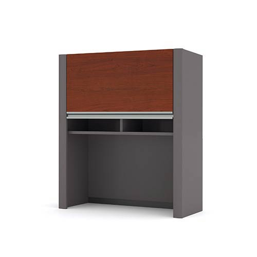 Bestar Connexion Bordeaux and Slate 35-Inch Height Lateral File Cabinet