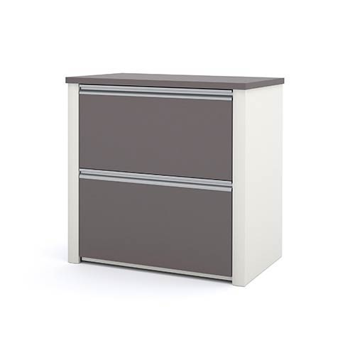 Bestar Connexion Slate and Sandstone 30.8-Inch Length Lateral File Cabinet