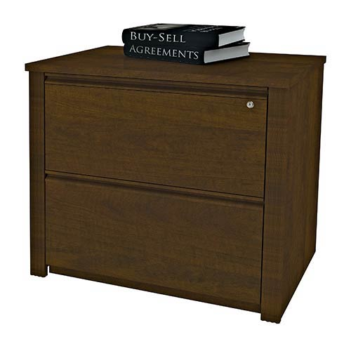 Bestar Prestige Plus Chocolate 36-Inch Length Assembled Lateral File Cabinet