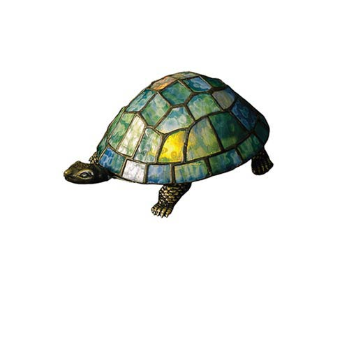 4 x 9 Tiffany Turtle Accent Lamp