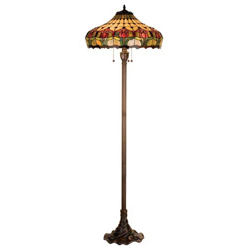 Tiffany floor lamps discounted tiffany style lighting on sale at 635 inch colonial tulip floor lamp aloadofball Image collections