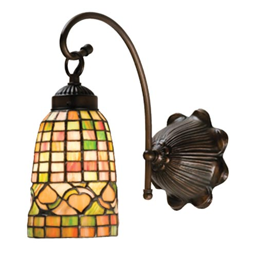 6-Inch Autumn Tiffany One-Light Sconce