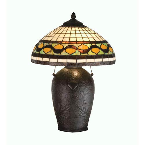 23-Inch Tiffany Acorn Table Lamp