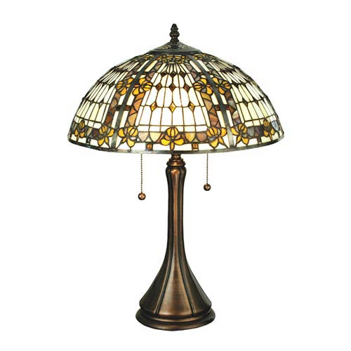Fleur de lis table lamp bellacor meyda tiffany 225 inch fleur de lis table lamp aloadofball Choice Image