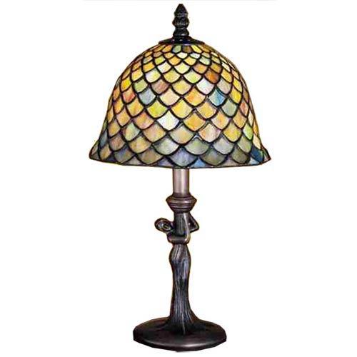 15-Inch Tiffany Fishscale Mini Lamp