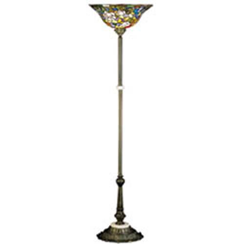 Tiffany Rose Bush Torchiere Lamp
