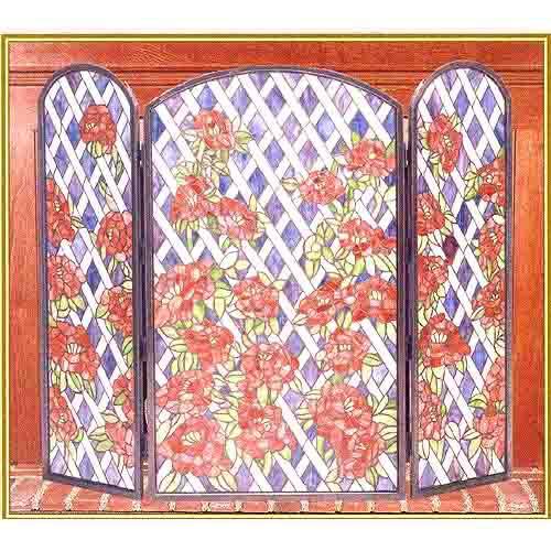 Rose Trestle Fireplace Screen