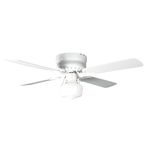 Heritage Fusion White 42-Inch Hugger Ceiling Fan