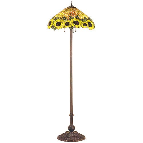 Tiffany floor lamps discounted tiffany style lighting on sale at wicker sunflower floor lamp aloadofball Image collections