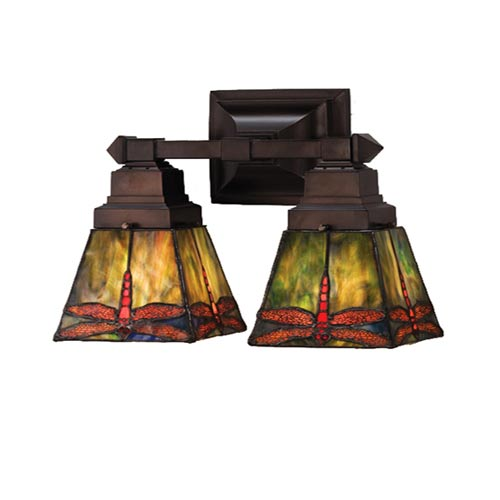 12-Inch Prairie Dragonfly Two-Light Wall Sconce