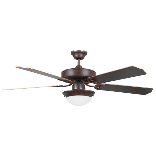 Concord Fans Heritage Fusion Rubbed Bronze 52-Inch Energy Star Ceiling Fan with Light Kit