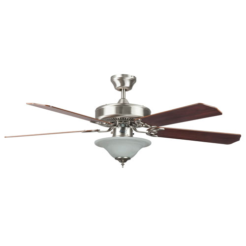 Heritage Square Stainless Steel 52-Inch Hugger Ceiling Fan