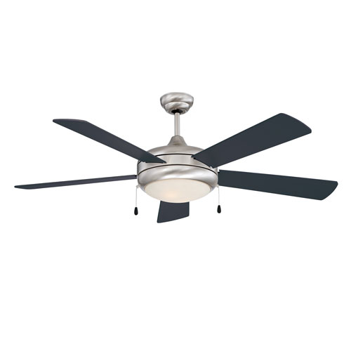 Saturn Stainless Steel 52-Inch Ceiling Fan with Light Kit