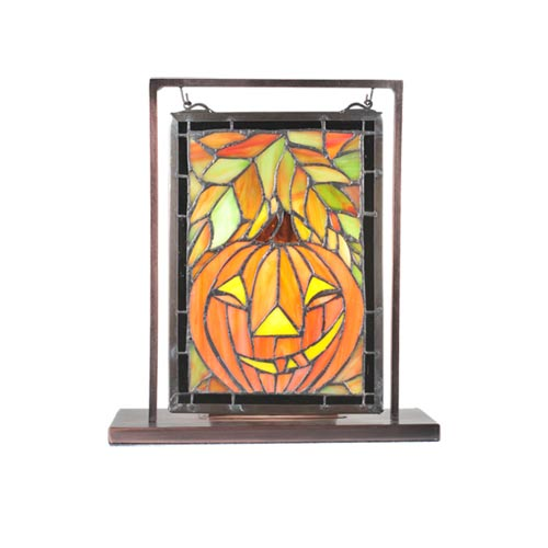 10.5 x 9.5 Jack-O-Lantern Lighted Accent Lamp