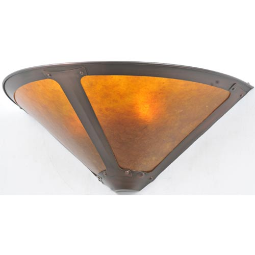 17-Inch Van Erp Amber Mica Wall Sconce
