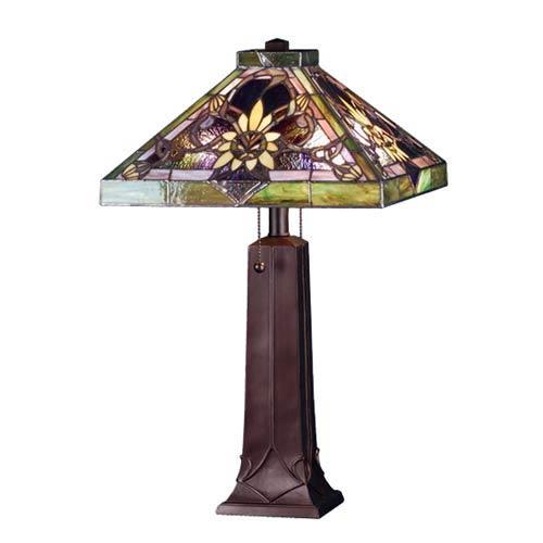 Solstice Mahogany Bronze Table Lamp