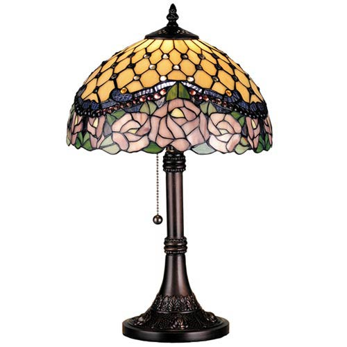 19.5-Inch Jeweled Rose Table Lamp