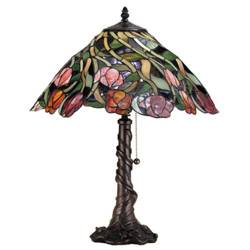 21-Inch Spiral Tulip Table Lamp