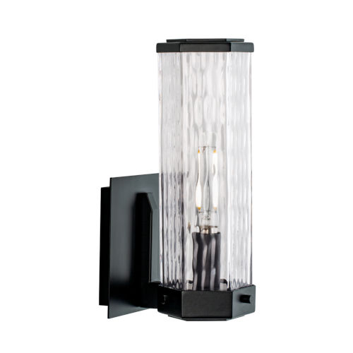 Polygon Matte Black One-Light 11-Inch Wall Sconce