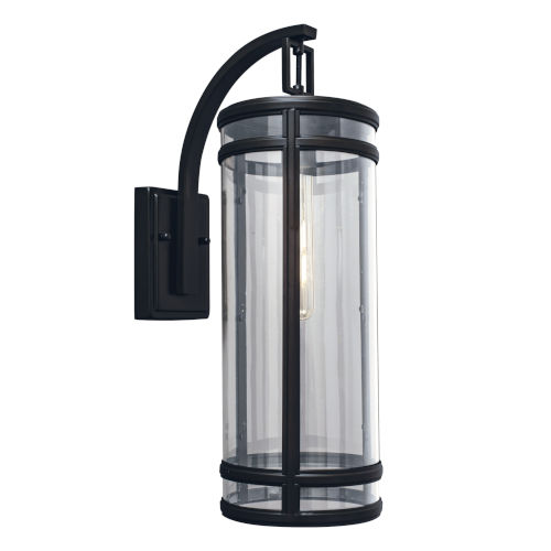 New Yorker Acid Dipped Black One-Light Outdoor Wall Mount