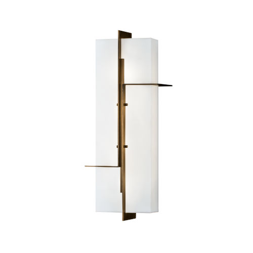 Matrix Aged Brass LED Outdoor Wall Mount