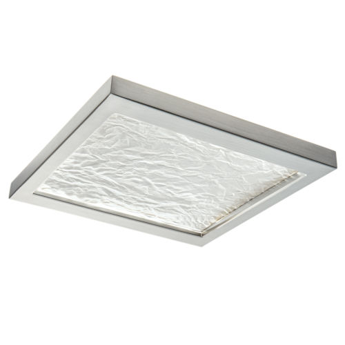 For-Square Brushed Nickel 12-Inch LED Flush Mount