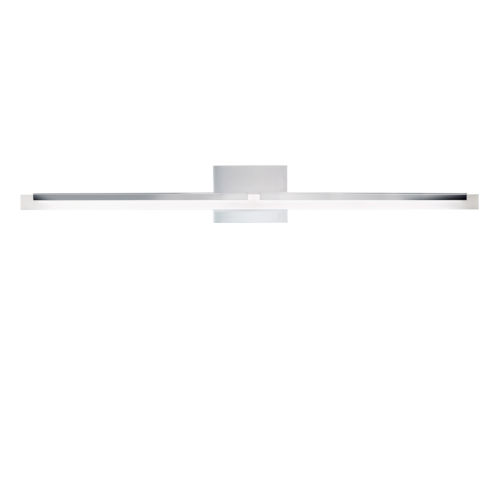 Double L Brushed Nickel One-Light 36-Inch Wall Sconce