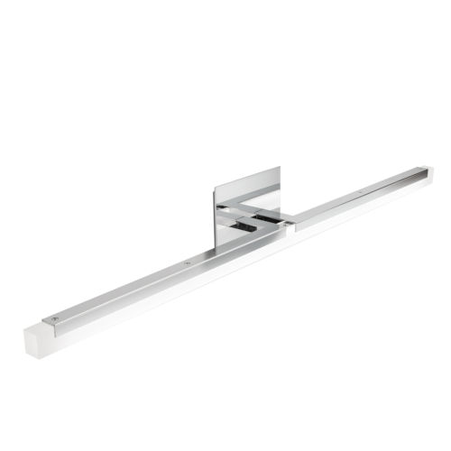 Double L Chrome One-Light 36-Inch Wall Sconce