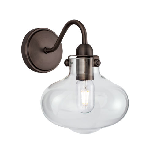 Clara Architectural Bronze Eight-Inch One-Light Wall Sconce
