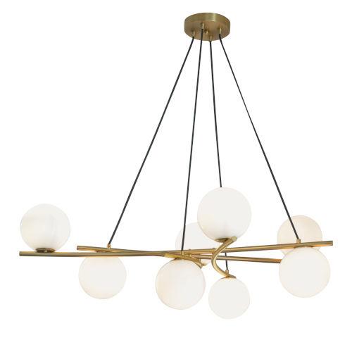 Perch Satin Brass Eight-Light Chandelier