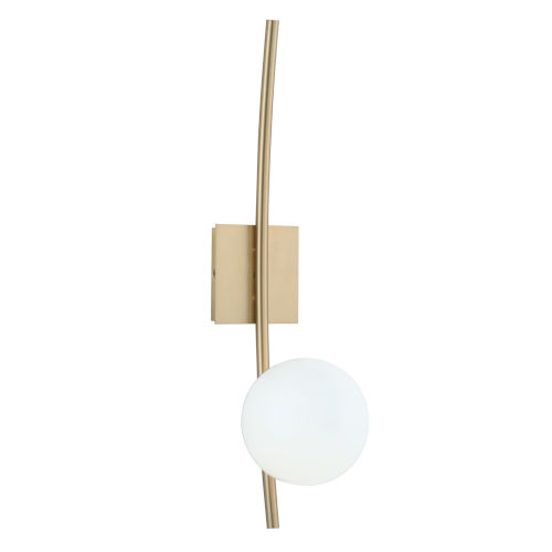 Perch Satin Brass One-Light Wall Sconce