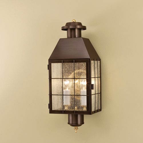 Norwell American Heritage Bronze Two Light Outdoor Wall Mount