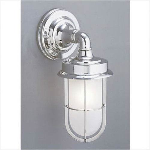 Compton Brushed Chrome Single Light Outdoor Wall Mount