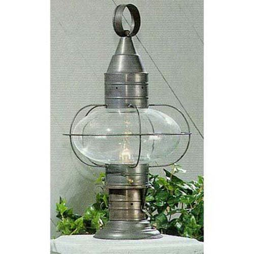 Norwell Classic Onion Gun Metal Single Light Outdoor Medium Post Mount