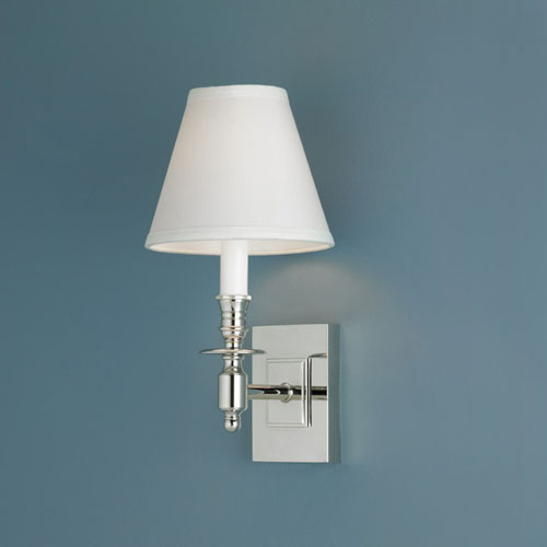 Norwell Weston Polished Nickel Single Light Wall Sconce
