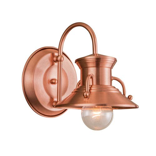 Copper One-Light Outdoor Wall Mount