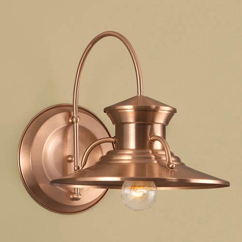 Budapest Copper Single Light Outdoor Wall Mount
